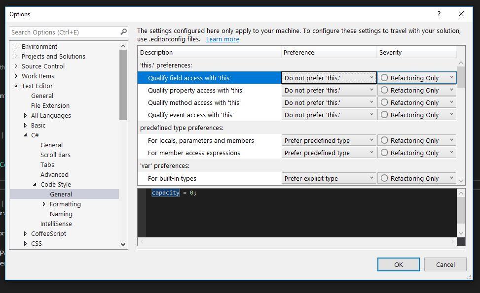 C# code refactoring with Visual Studio 2017 – Mirko Maggioni